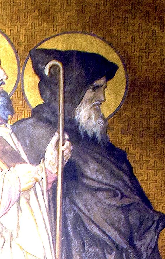 Святой Аарон Алетский: фреска.