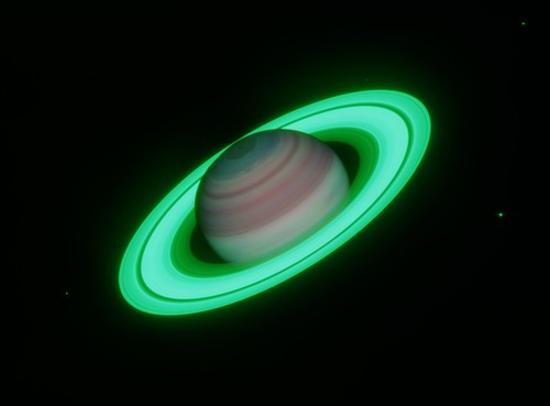 Saturn in Methane Bands | by geckzilla