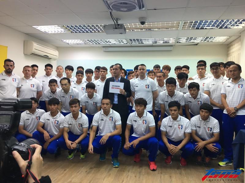 中華民國足球協會召開記者會澄清爆料內容。(張哲郢/攝)