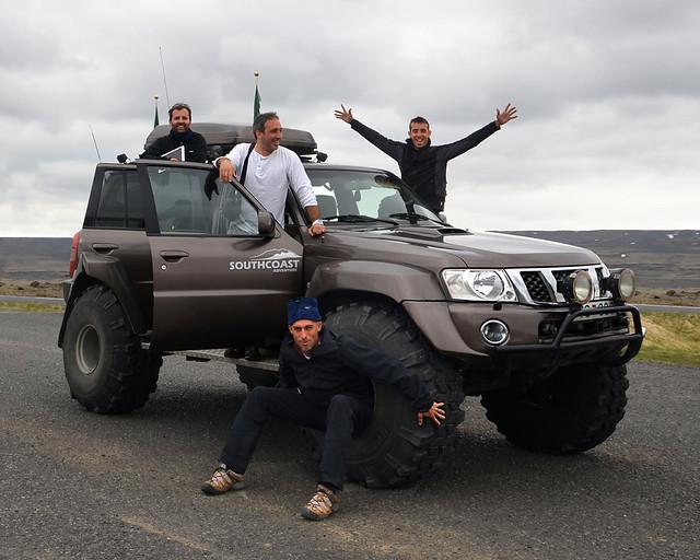 A bordo del superjeep que nos llevaría por Landmannalaugar
