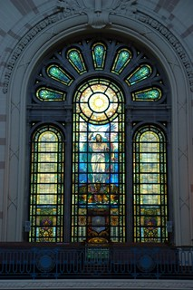 Stained glass window, USNA Chapel | by Monceau