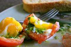 romaine pesto and egg-stuffed tomatoes | by smitten kitchen