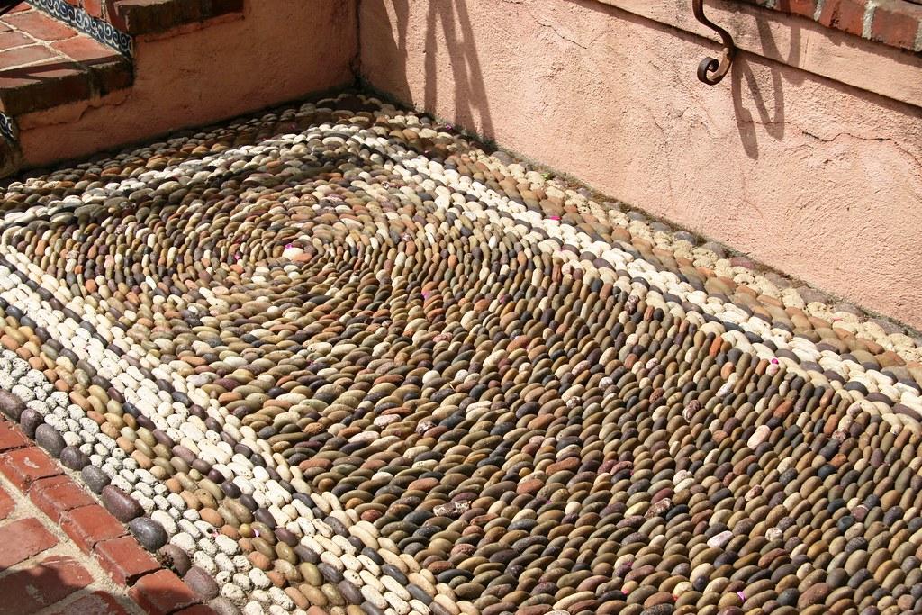 Pebble mosaic, The Parterre, Lotusland | Pebble mosaic The ...