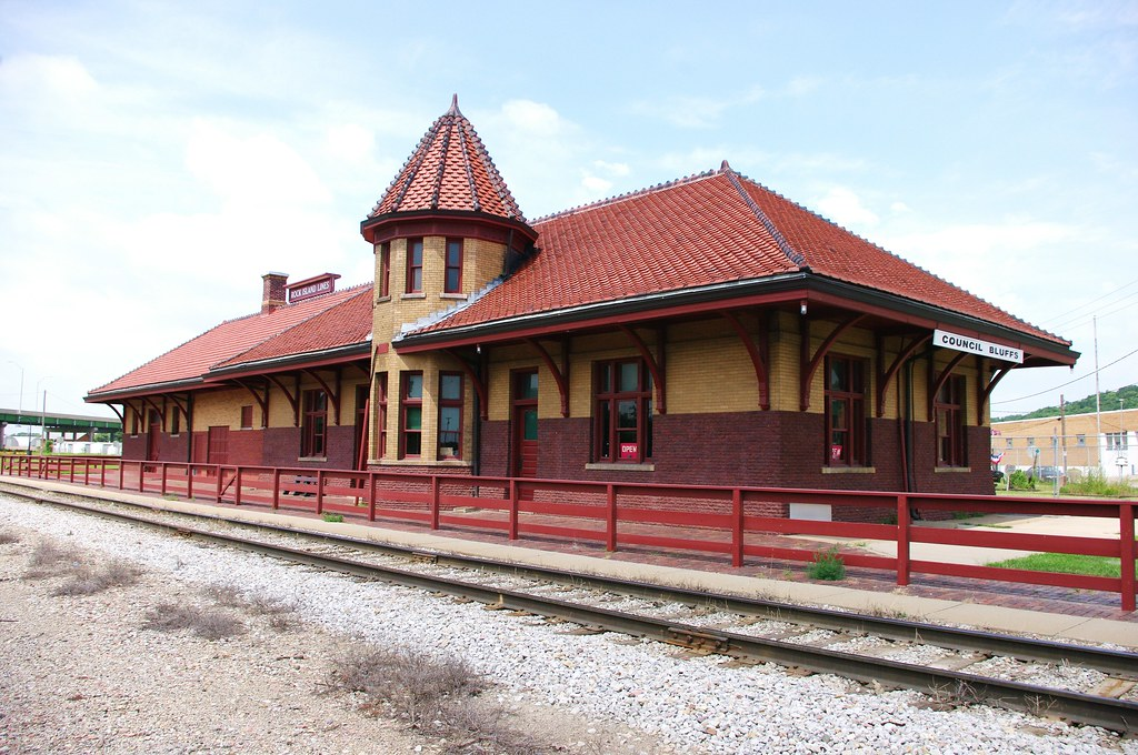 Council Bluffs Ia Train Station Restored Rock Island