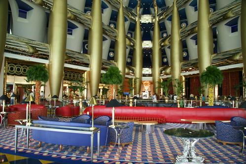 Inside of the 7 star burj al arab hotel in dubai karl for Burj al arab 7 star hotel