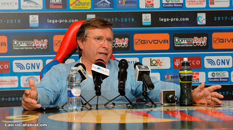 Pietro Lo Monaco oggi in conferenza stampa a  Torre del Grifo