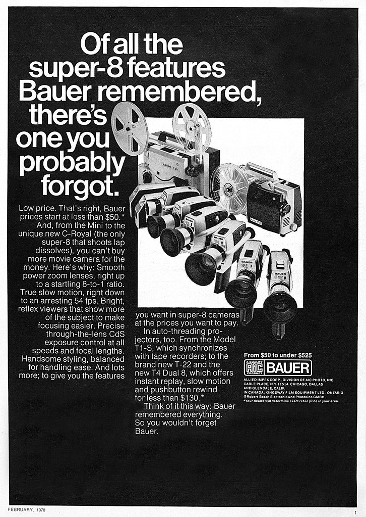 By Jerry Vacl Bauer Movie Camera Systems Advertisement