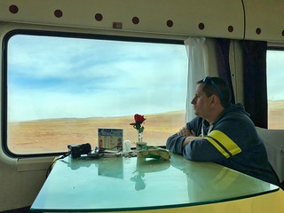 Sele en el tren transtibetano (Tren de las nubes al Tíbet)