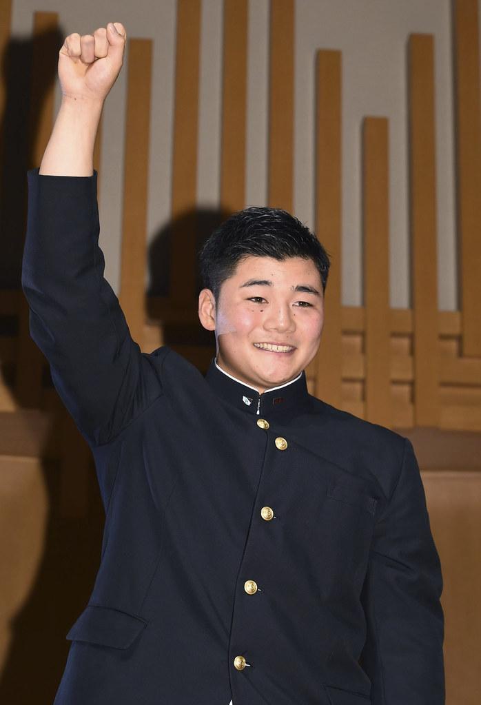 清宮幸太郎去年選秀會是日本火腿第1指名。(達志影像資料照)