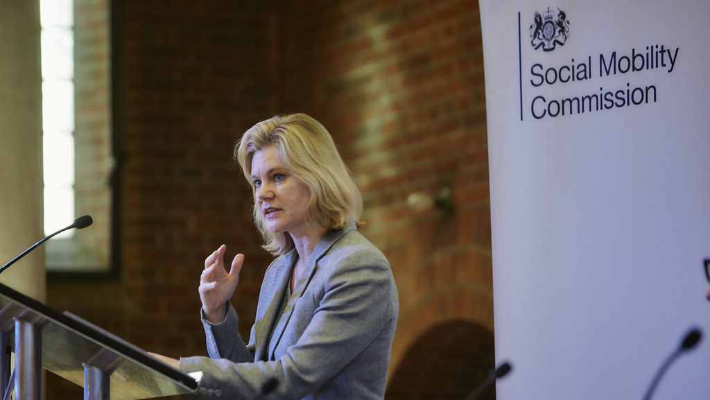 Education Secretary Justine Greening speaking at the CASP Bath, Social Mobility Commission event