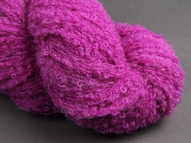Baby Alpaca Bouclé hand dyed yarn (special edition) 100g – Light Plum