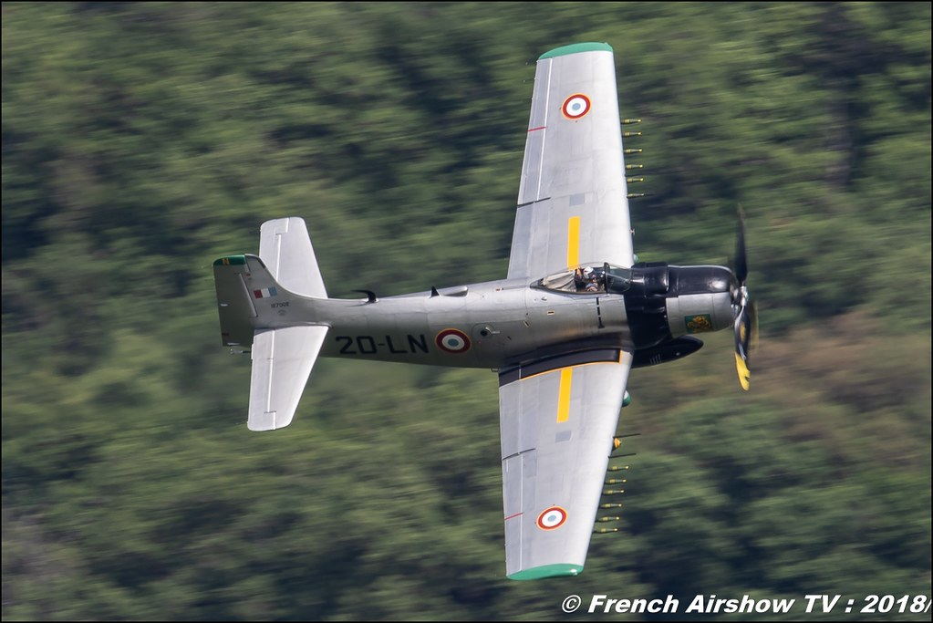 Douglas AD-4N Skyraider - F-AZHK - 20-LN , Meeting Aérien Gap-Tallard 12 mai 2018 - Alpes-Envol , Association AGATHA , Canon EOS , Sigma France , contemporary lens , Meeting Aerien 2018