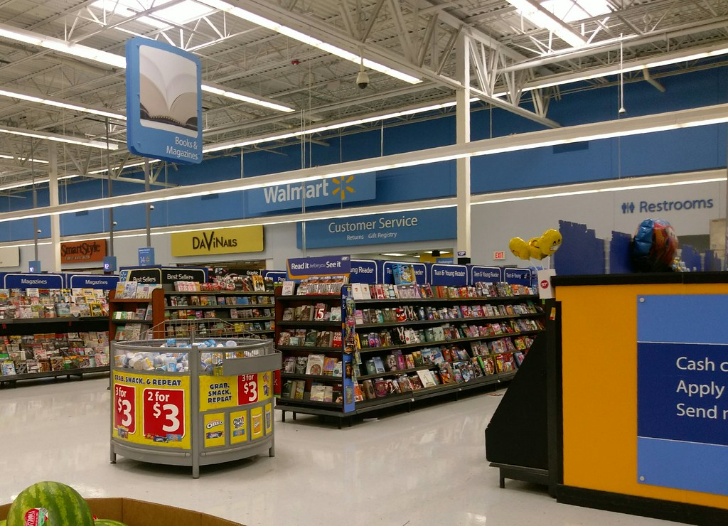 Walmart Bartlett, books and magazines once in the front ...