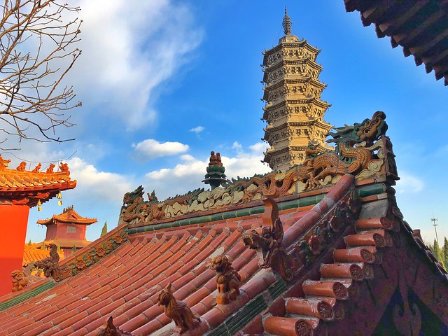 Pagoda del monasterio Bailin (China)