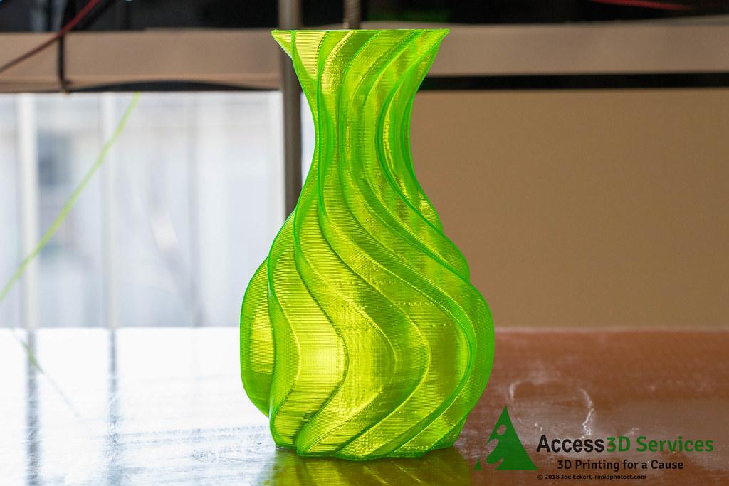 Waved Spiral Vase Waved Spiral Vase By Asp3d Of Thingivers Flickr