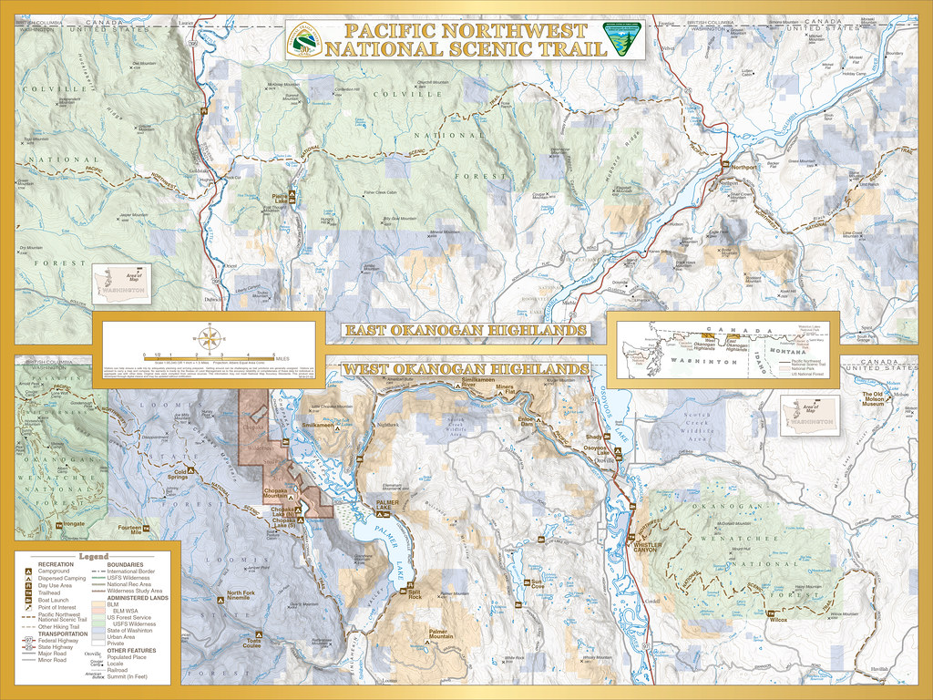 Map of Pacific Northwest National Scenic Trail | Map of BLM-… | Flickr