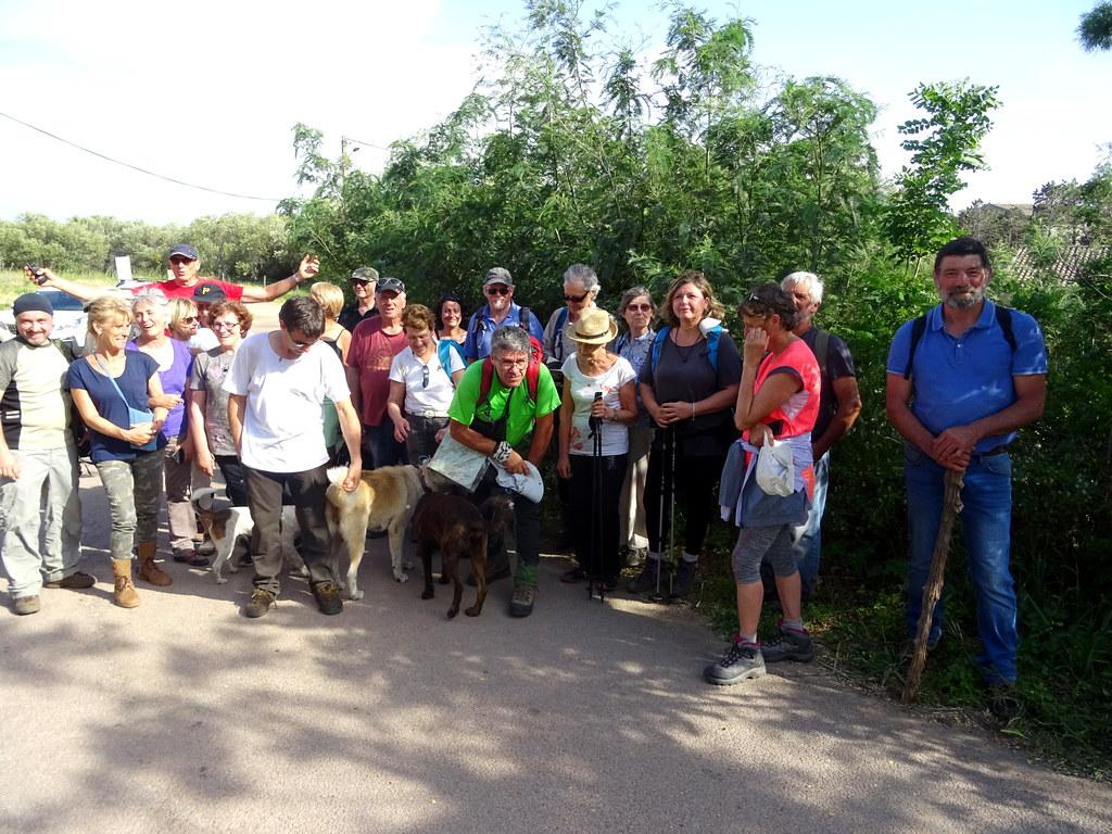 Le groupe au retour à l'entrée de San Gavinu