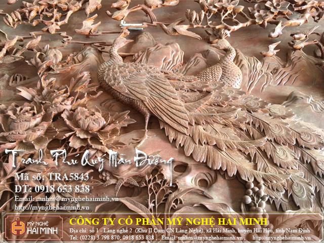 Tranh go Phu Quy Man Duong do go mynghehaiminh TRA5843b