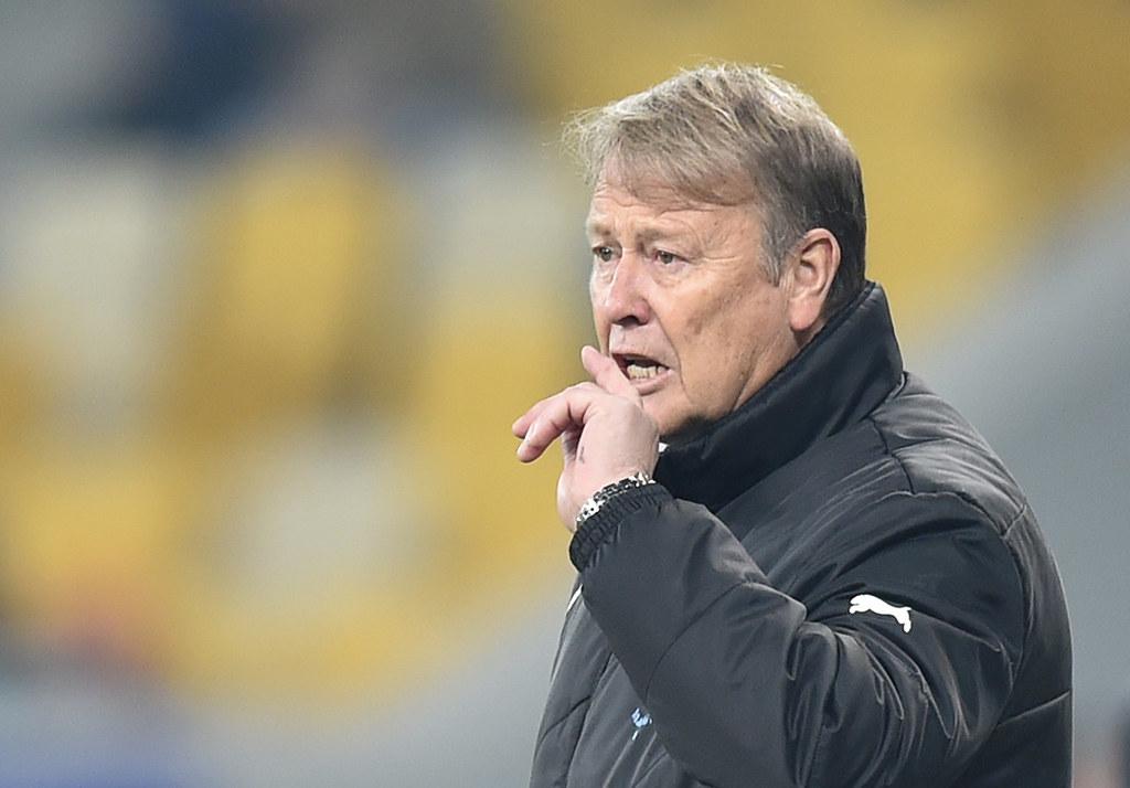 丹麥總教練Age Hareide。(AFP授權)