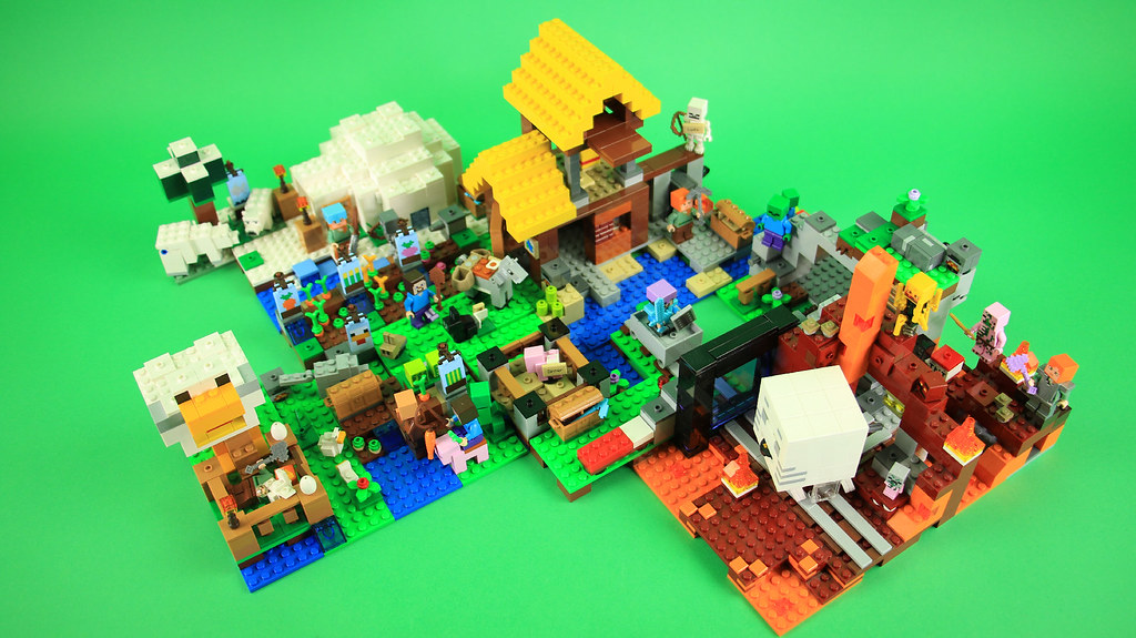 Lego Minecraft 2018 Sets Combined Official Version Flickr