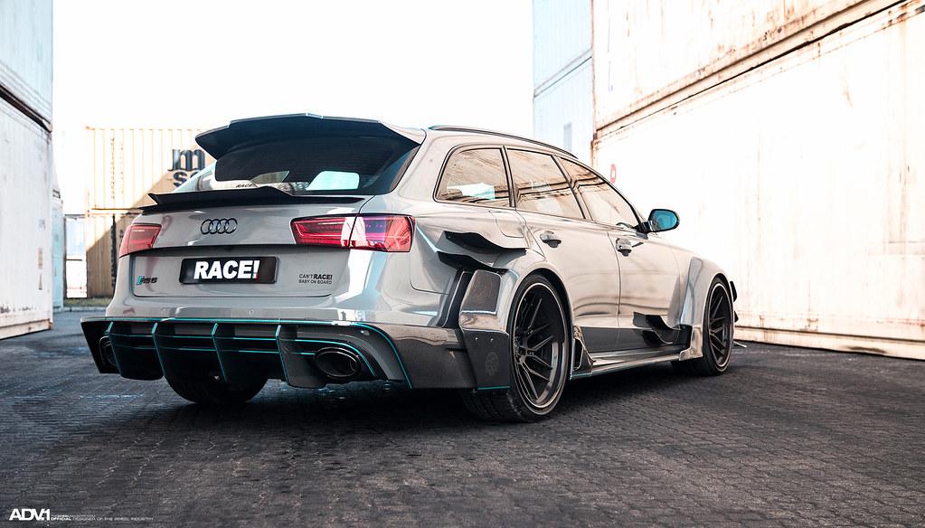 Nardo Gray Carbon Fiber Widebody Audi RS6 Avant