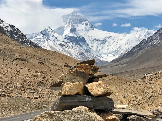 El Everest visto desde el lado tibetano