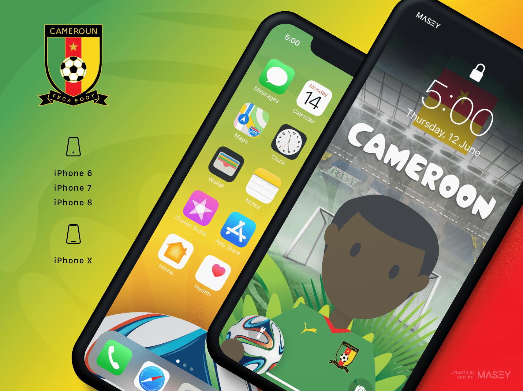 Team Cameroon iPhone Wallpaper