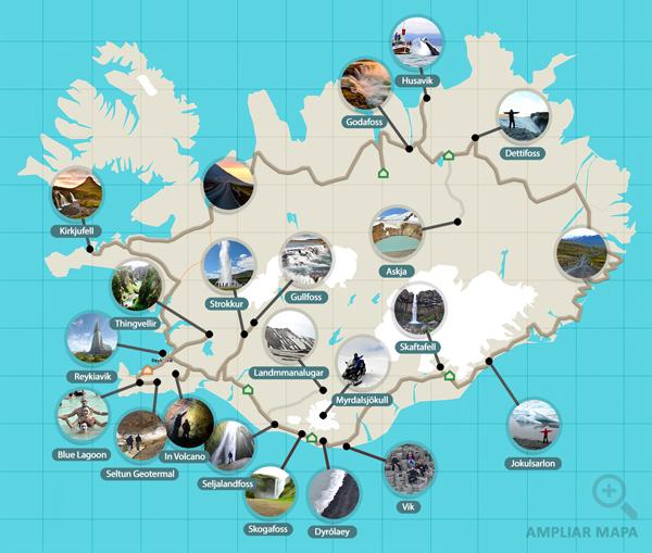 Ruta de 12 días en coche por Islandia