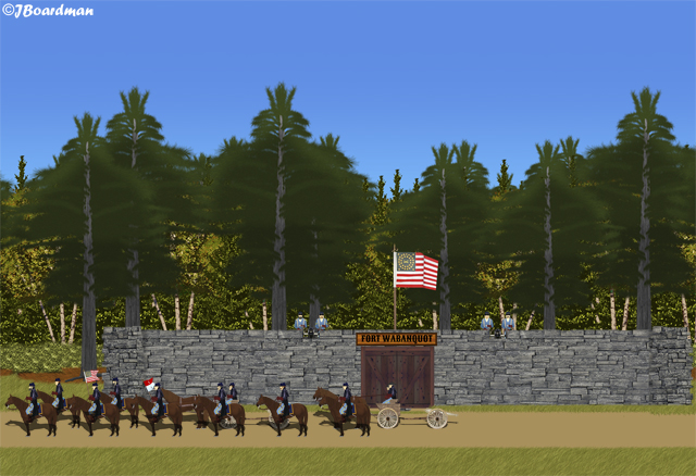 Troopers & Lieutenant Adams departed the fort ©JBoardman