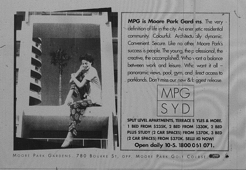 Fab Sydney Flashbacks: Property Advert of the Week: Moore