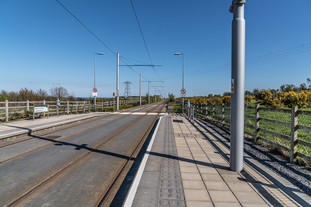 LUAS TRAM STOP AT LEHAUNSTOWN [GREEN LINE SERVICE] 003