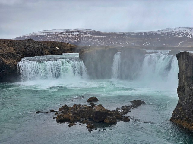 Cascada Godafoss (Norte de Islandia)