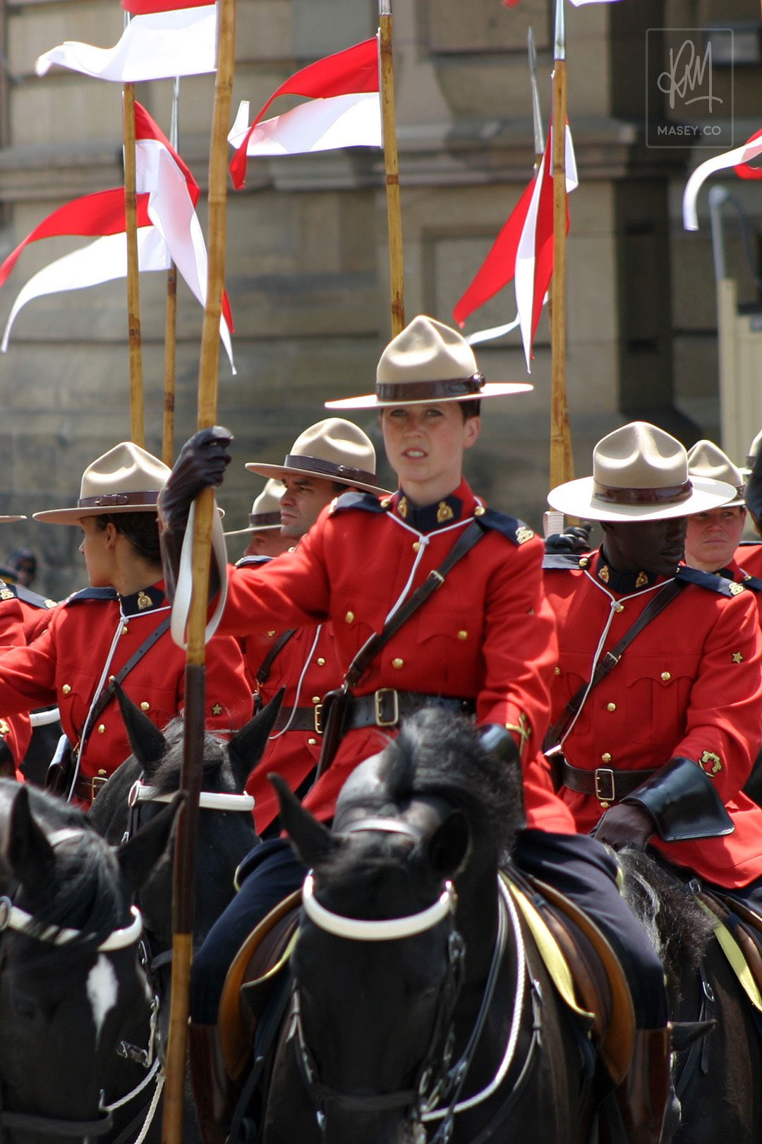 "Royal Canadian ""Mounties"" everywhere you looked"
