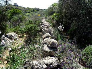 Muret sur le sentier de Pastricciola à l'entrée du hameau