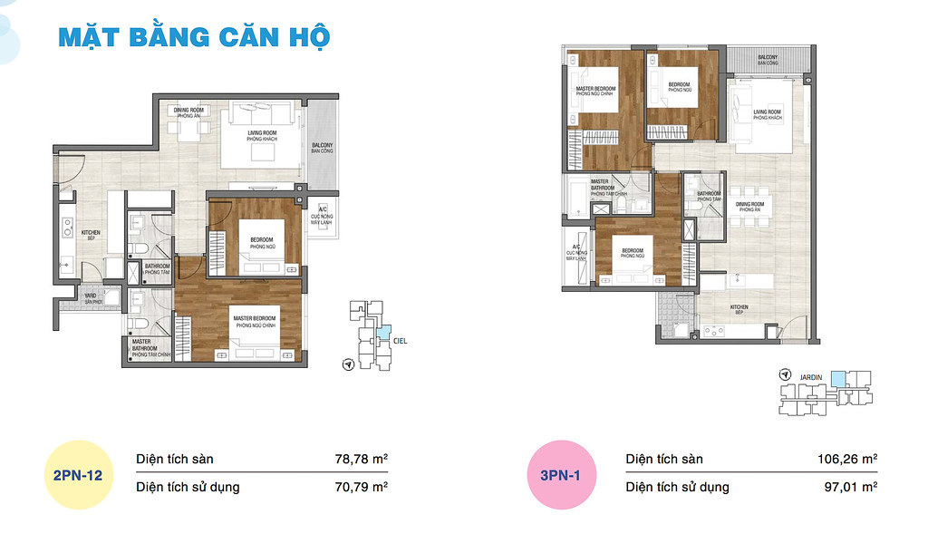 Căn 2 phòng ngủ One Verandah