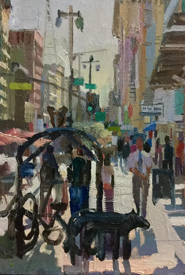 Grand Central Market Los Angeles Plein Air Oil Painting Flickr
