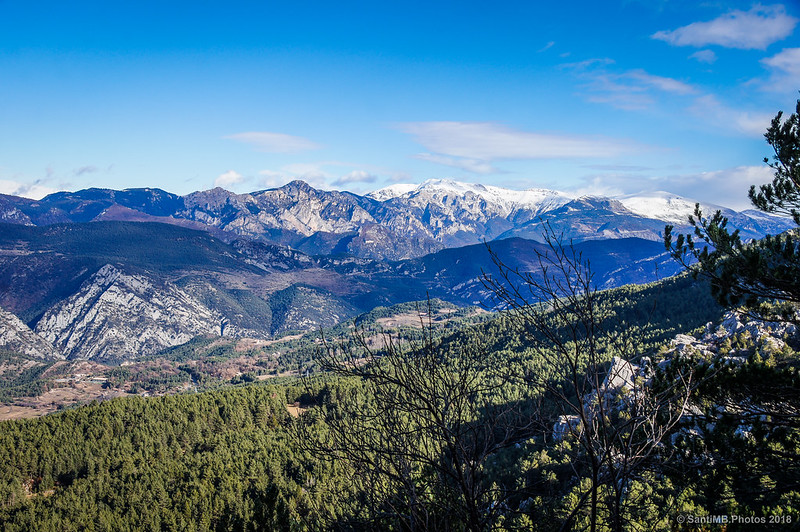 La Serra del Moixeró desde el mirador del Bosc de Palomera