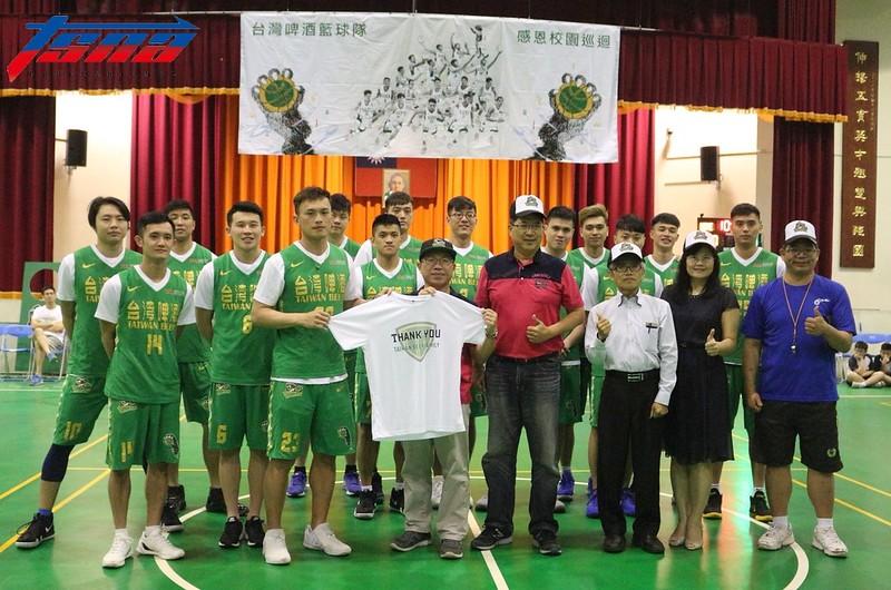 台灣啤酒籃球隊。(行大昀/攝)