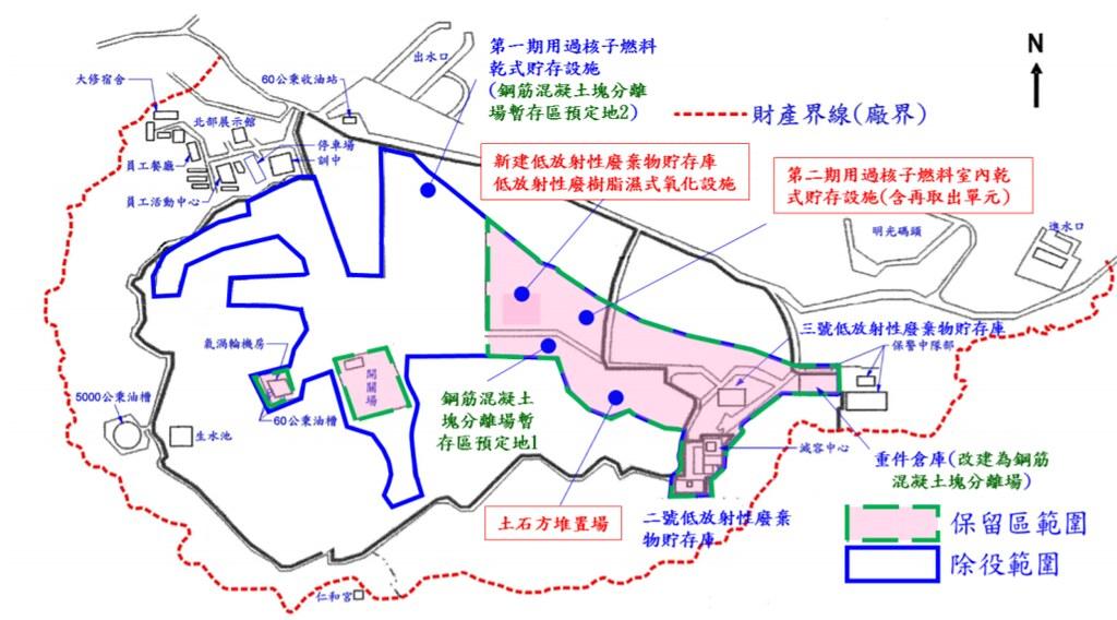 核二除役作業區位劃分