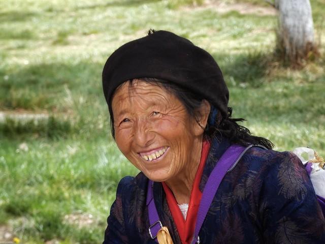 Sonriendo en el Tíbet