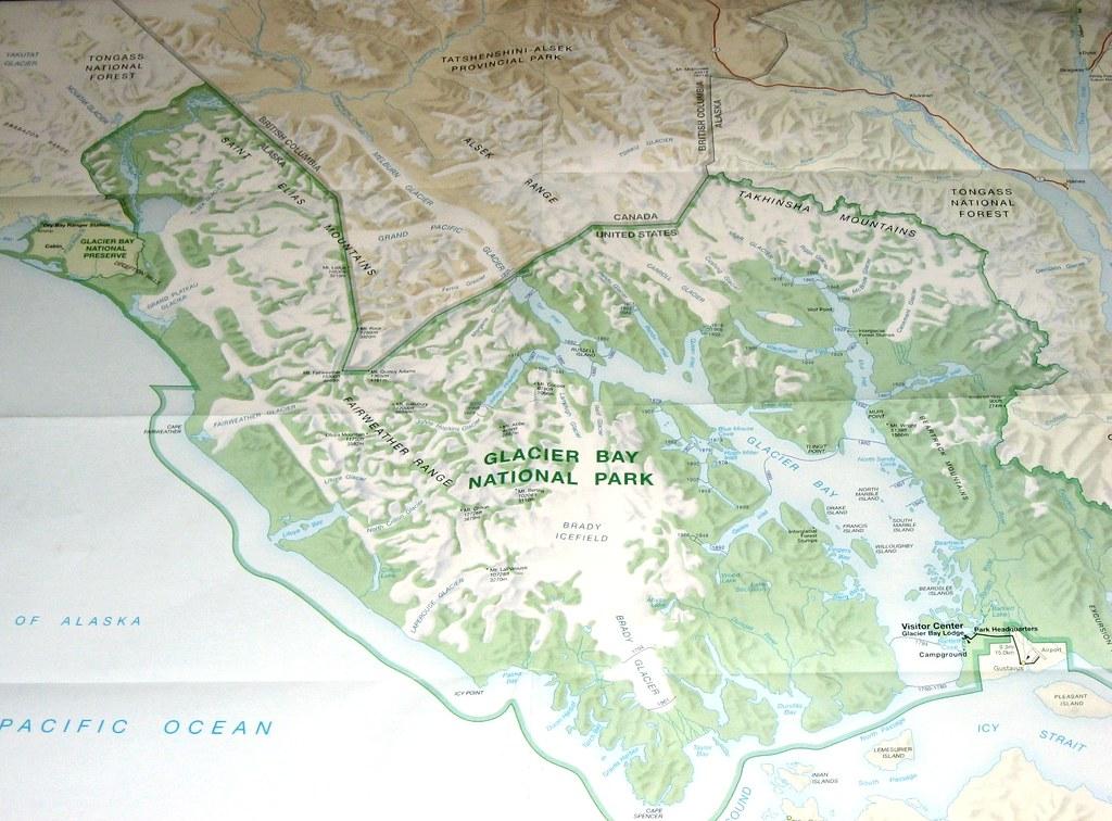 Glacier Bay Map David Valenzuela Flickr