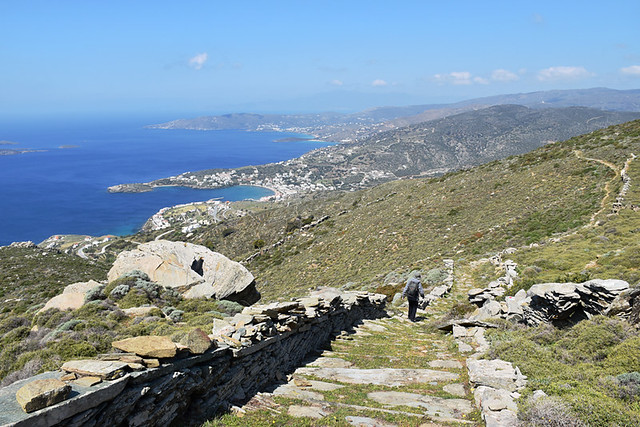 Wide paths on Andros