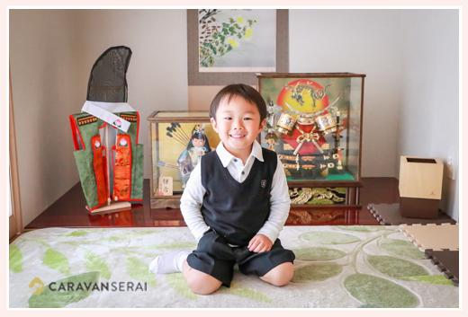 男の子の端午の節句祝いと幼稚園入園記念