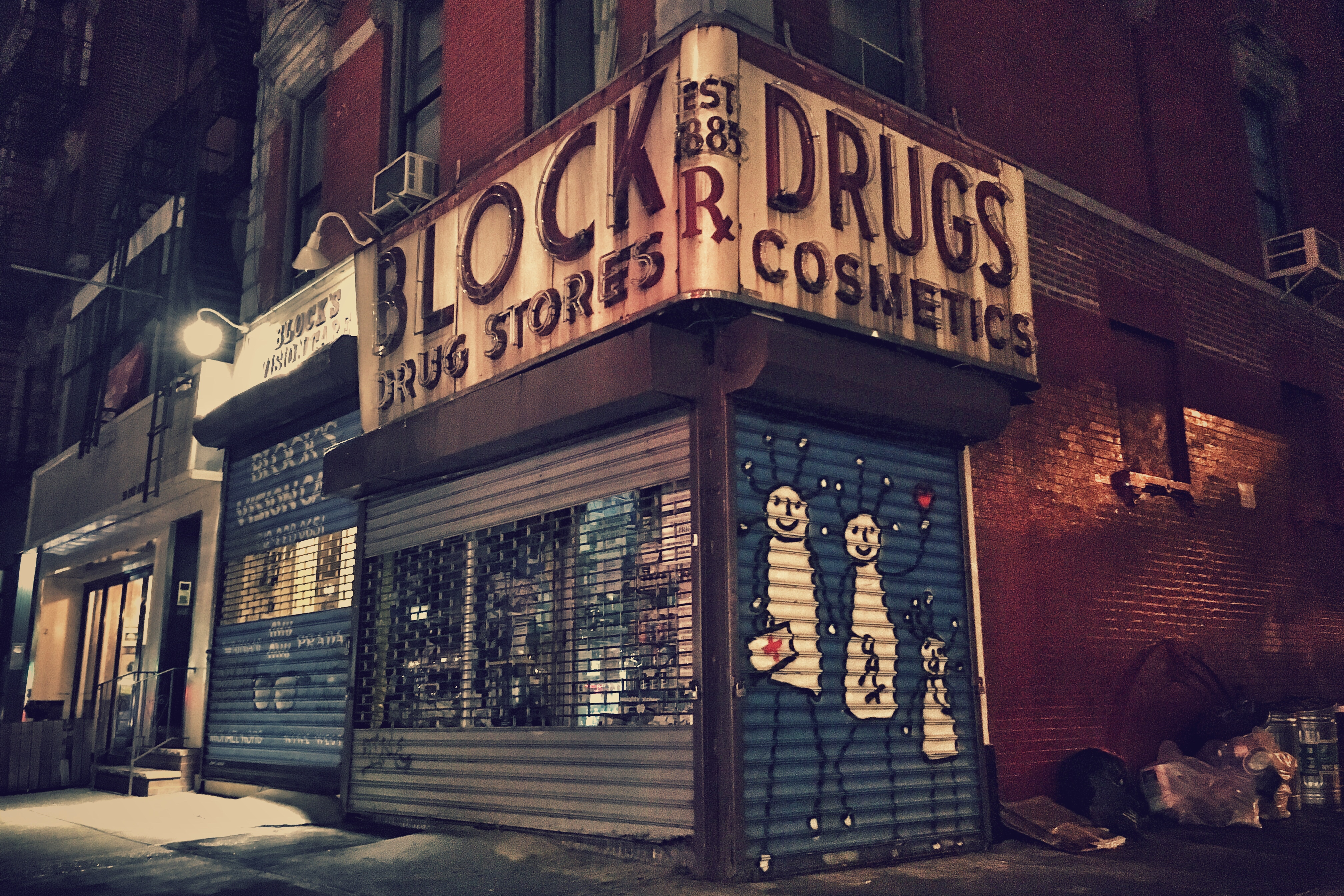 Block Drug Store - 101 2nd Avenue, New York City, New York U.S.A. - May 10, 2018