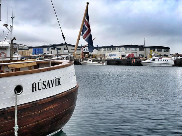 Barco en Husavík (Norte de Islandia)