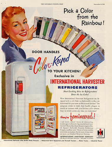 International Harvester Refrigerator ad, 1950s | by bayswater97