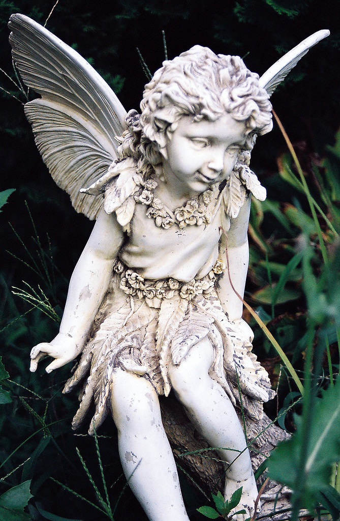... Small Garden Fairy Statue Above | By Kani73