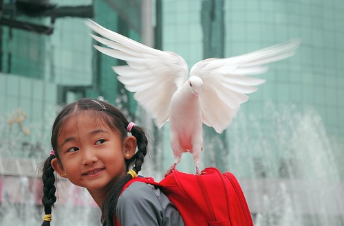 """I am happy to carrying the peace"" 