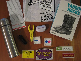 Yahoo! Hack Day swag | by eszter