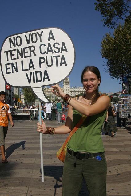 Fotomatn por la Vivienda en Las Ramblas